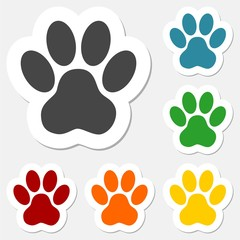 Paw Print Sticker set - Illustration
