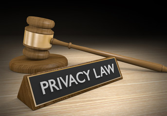 Privacy law regulation and legal protection concept