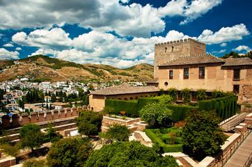 Alhambra in Granada, Spain.