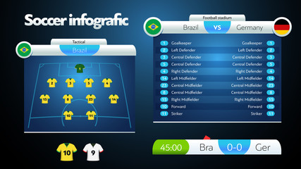 vector info graphic football field statistics