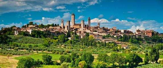 Foto op Canvas Toscane San Gimignano with vineyard