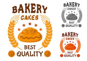 Bakery cakes icon with sweet bun
