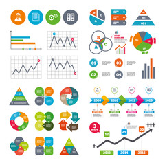 Accounting workflow icons. Human documents.