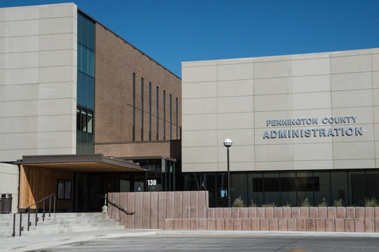 The central administration building for Pennington County at Rapid City, SD