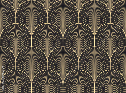 Vintage antique palette seamless art deco wallpaper pattern vector ...