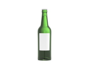 Flasche Bier grün