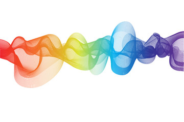 Rainbow Ribbon Effect blackground