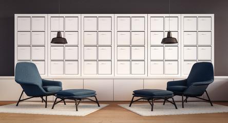 Modern Cozy Living room /  3D rendering image