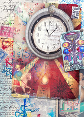 Alchemic and esoteric scrap and collage series
