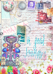 Collage,patchwork,clippings and scrapbooks background