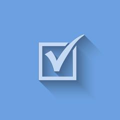 Vector agreement symbols on blue background.