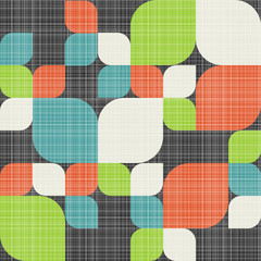 Retro seamless pattern with leaves.