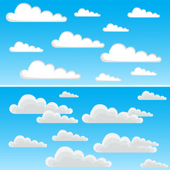 two images of clouds in different variations