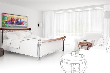 Bedroom in white (project)