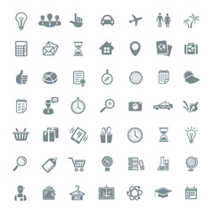 Big Icon Set Travel, Business, Retail and Sciense. Vector