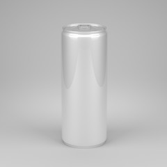 Small metal can with soda or energy drink