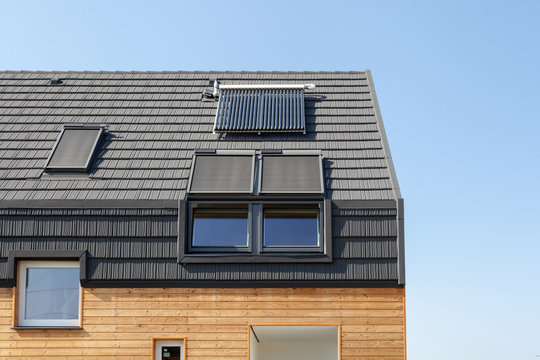 Energy saving concepts in new building energy efficiency roof design