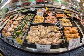 ADELAIDE, AUSTRALIA - SEPTEMBER 1, 2015 - People buying at famous town fresh market