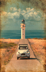 Garden Poster Lighthouse formentera lighthouse