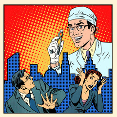 Fear of dentistry medical concept