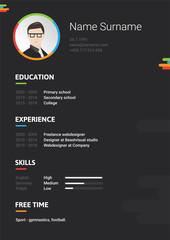 Vector dark cv, resume, curriculum viate template. Modern and creative CV, it's good for you!