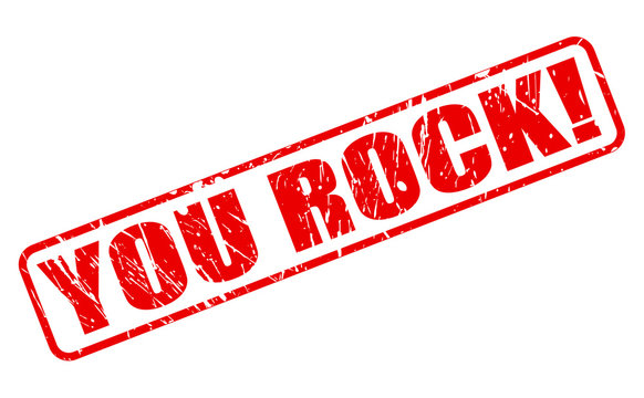 YOU ROCK red stamp text