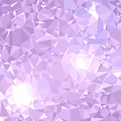 Abstract background vector illustration representing beautiful gemstone sparkling. Light purple color.