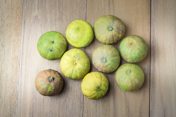 many lime on wood board