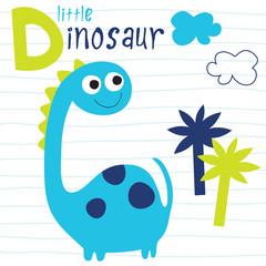 little dinosaur vector illustration
