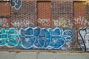 Graffiti wall on street