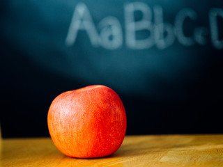 An apple and on the first day of school
