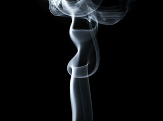 Smoke swirls and waves