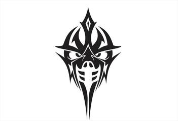 Head king of war tribal logo vector