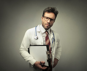 Puzzled doctor