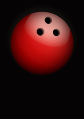 Dark Background of bowling ball. Vector Illustration.