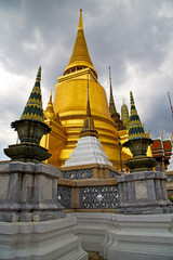 thailand asia   in    colors  roof wat  palaces     sky