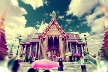 Palacio Real de Tailandia. Bangkok ,monumentos de la ciudad, viajes por el Mundo.Estilo retro