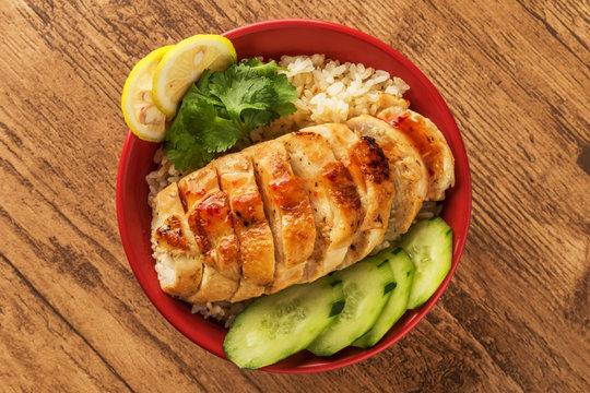チキンライス 海南鶏飯 Hainanese chicken rice Asian food