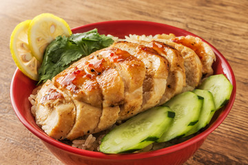 チキンライス 海南鶏飯 Hainanese chicken rice Asian food