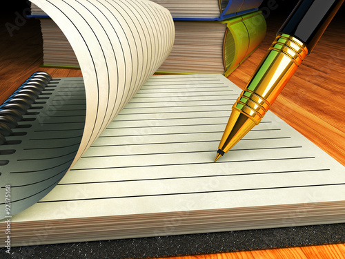 Writing And Education Signing Contract Or Agreement Business