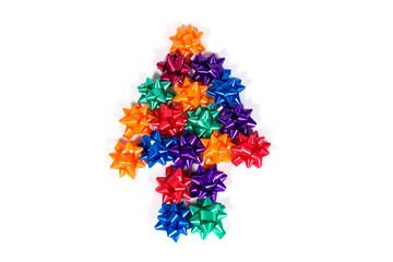 Colorful gift ribbon bow