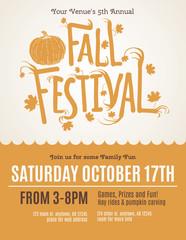 Fun Fall Festival Invitation Flyer