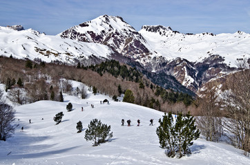 Somport Pass for cross country ski and winter hiking activity