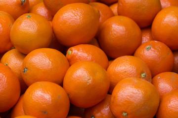 Group of juicy ripe orange fruit