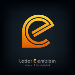 Letter E logo icon design typography template elements, ABC concept type as logotype, Leters of the alphabet