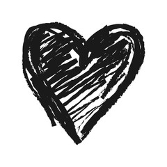 Simple hand drawn doodle of a heart