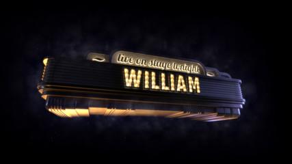 Classic cinema billboard William