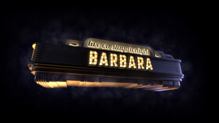 Classic cinema billboard Barbara