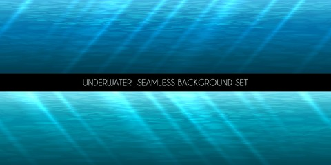 Underwater seamless background vector illustration