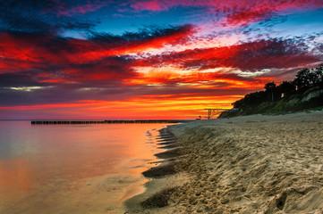 Sunset at Baltic Sea